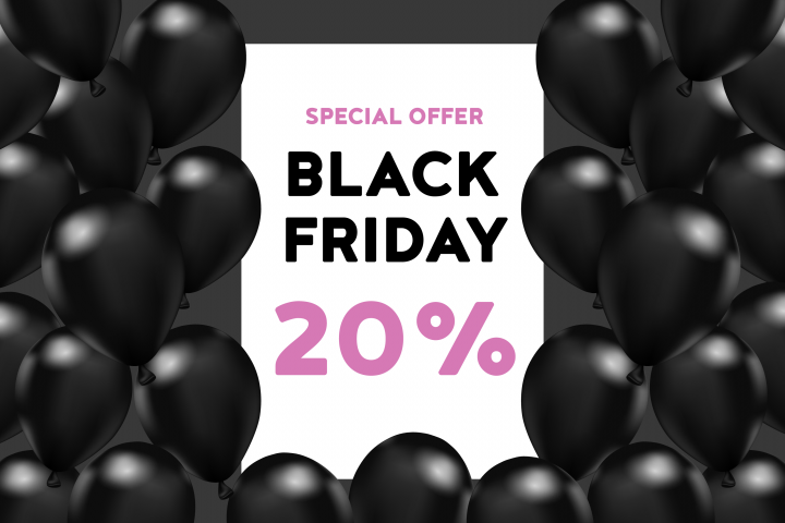 black friday: 20% off